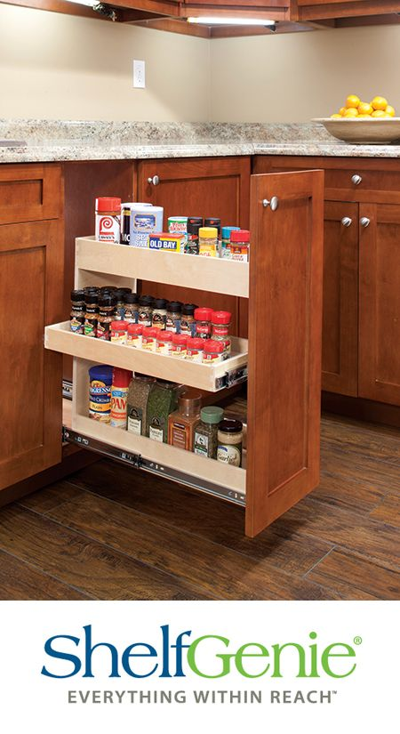 Make Use Of Those Tall Narrow Cabinet Spaces With Our Custom Width