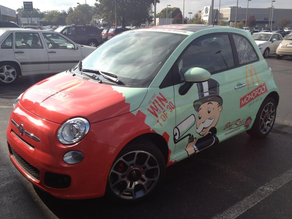 Monopoly Fiat With Images Car Wrap Fiat 500 Fiat