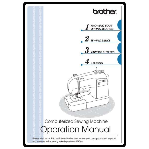 Instruction Manual Brother Sq  Craft    Brother
