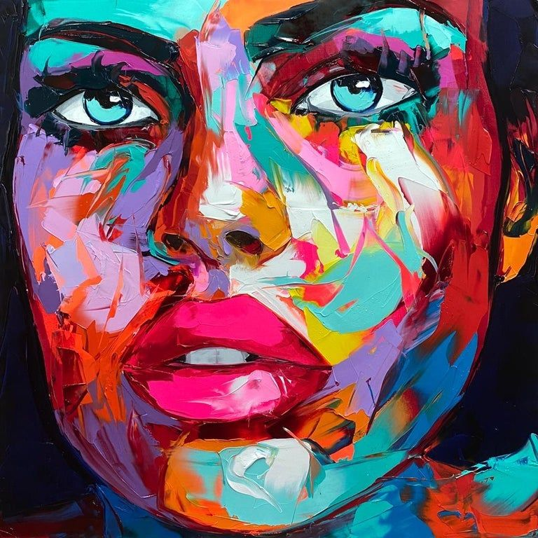 Woman abstract portrait painting on canvas figurative original portrait oil art paintings of people original artwork people faces wall art