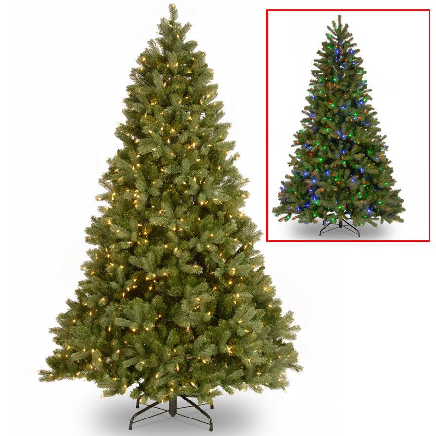 Christmas Tree 7 5 Classic Fir With 750 Multi Color And Clear Led Elegant New Pre Lit Christmas Tree Artificial Christmas Tree Fir Christmas Tree Christmas tree with dual lights white and multicolored