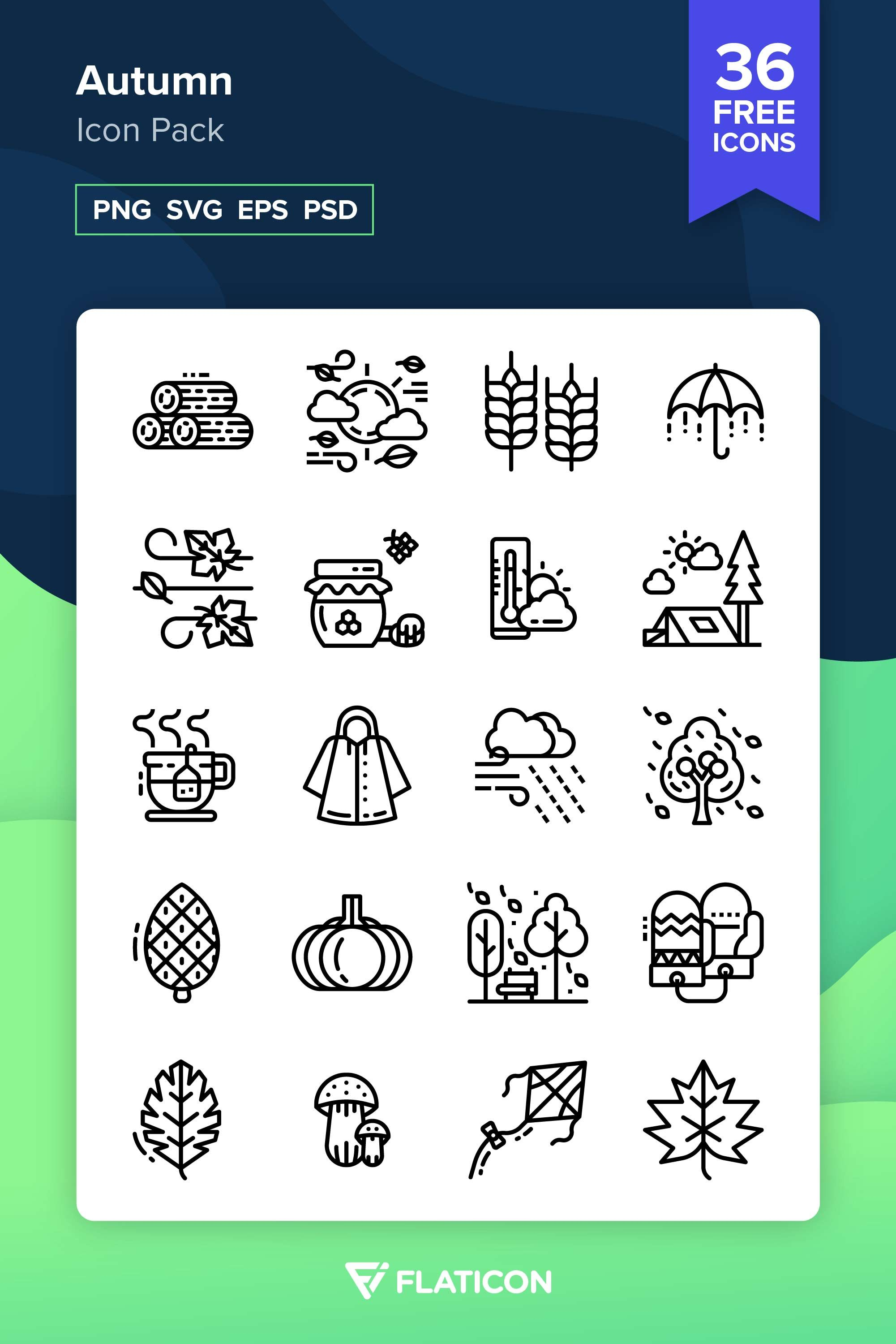 36 free vector icons of Autumn designed by photo3idea