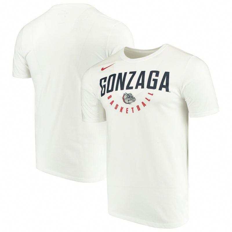 ae37cbfb1ca8 Gonzaga Bulldogs Nike Basketball School Name Performance T-Shirt – White   gonzagabasketball