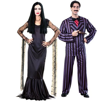 Morticia and Gomez Addams - a classic couples costume for Halloween