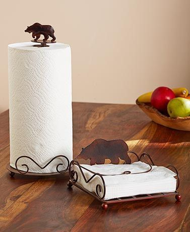 Wildlife Napkin And Paper Towel Holder Sets And Kitchen Decor (Moose, Deer)