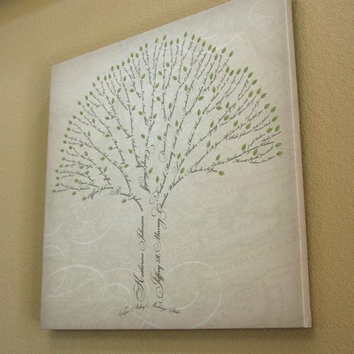 a lovely piece of family tree art for families short on photos but long on names