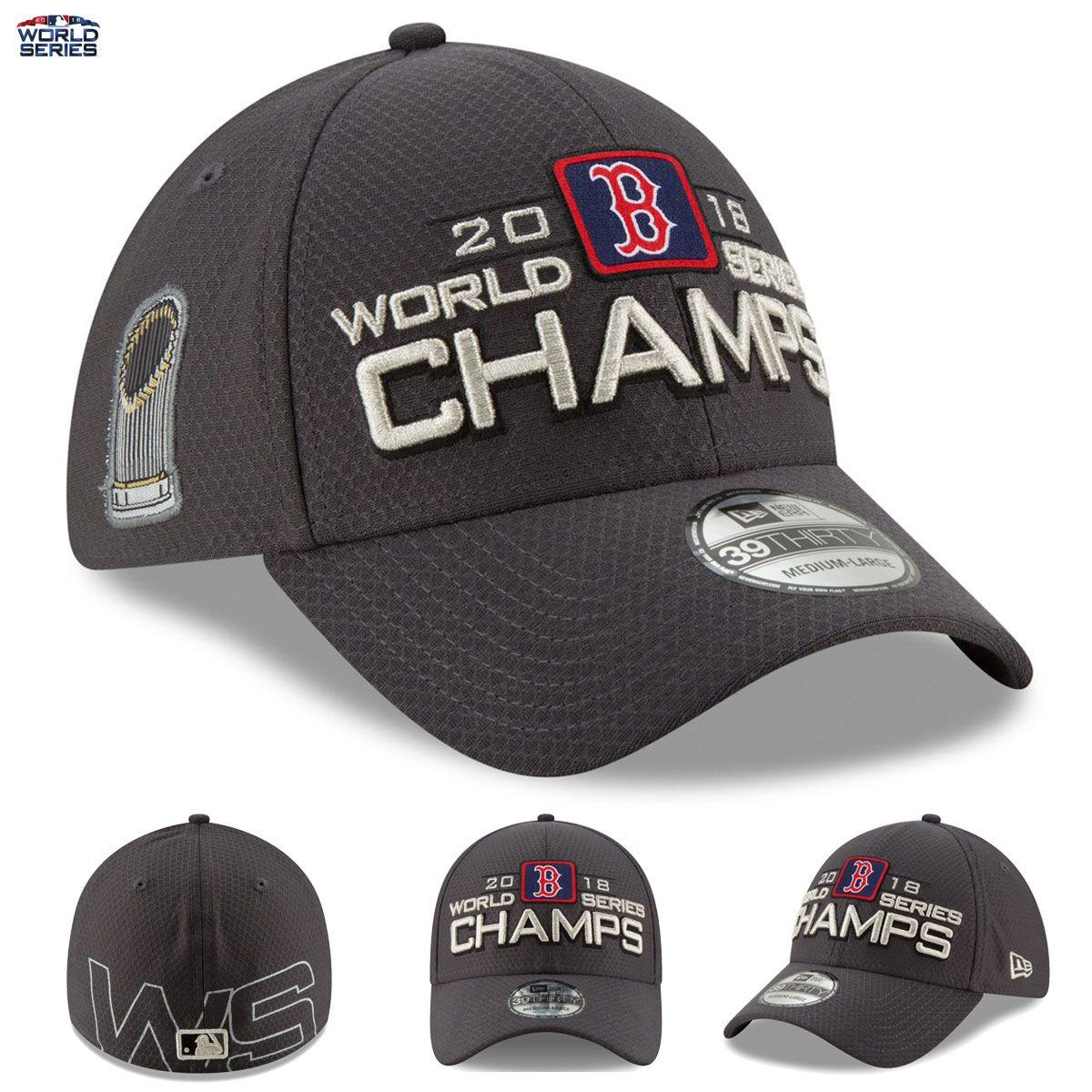 Boston Red Sox 2018 World Series Champions New Era Flex Hat 39THIRTY Locker  Room THEY HAVE DONE IT!! Your Boston Red Sox are 2018 World Series  Champions 9b0bef63051