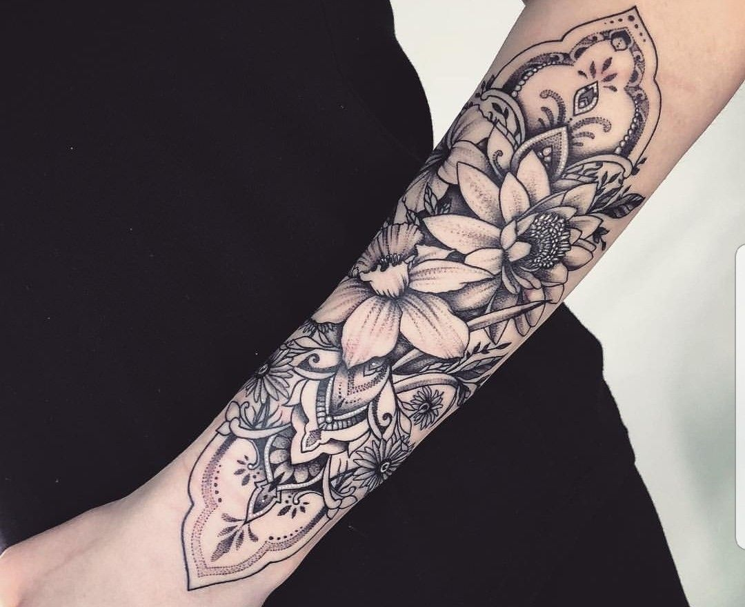 30++ Awesome Female quarter sleeve tattoos forearm image HD