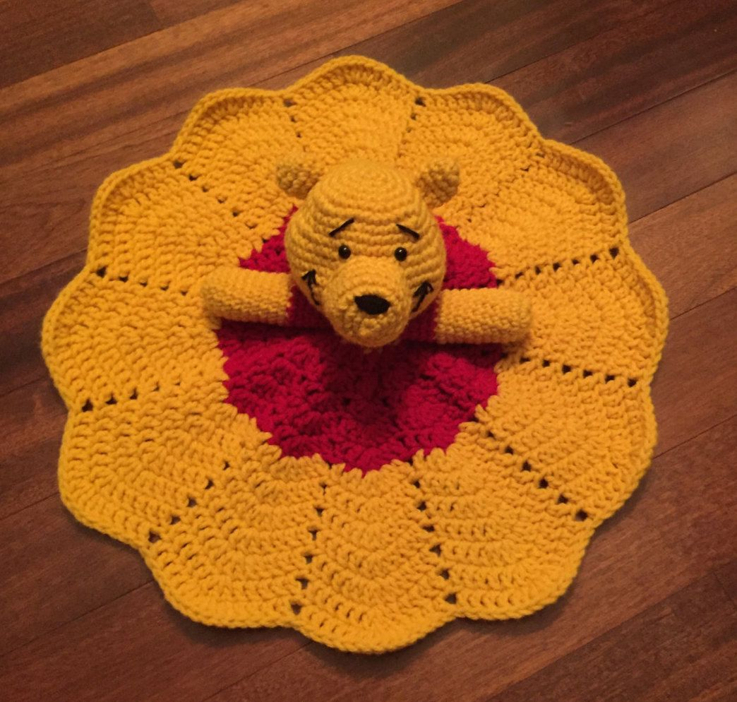 Crochet Disney Inspired Winnie the Pooh Doll, Lovey, Security ...