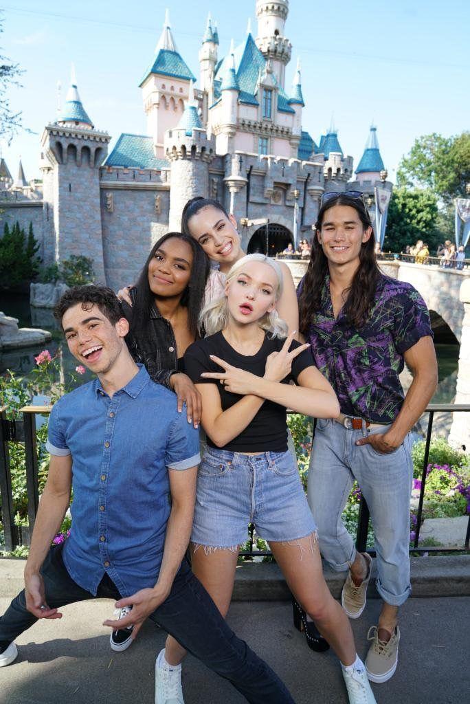 Descendants cast at Disney