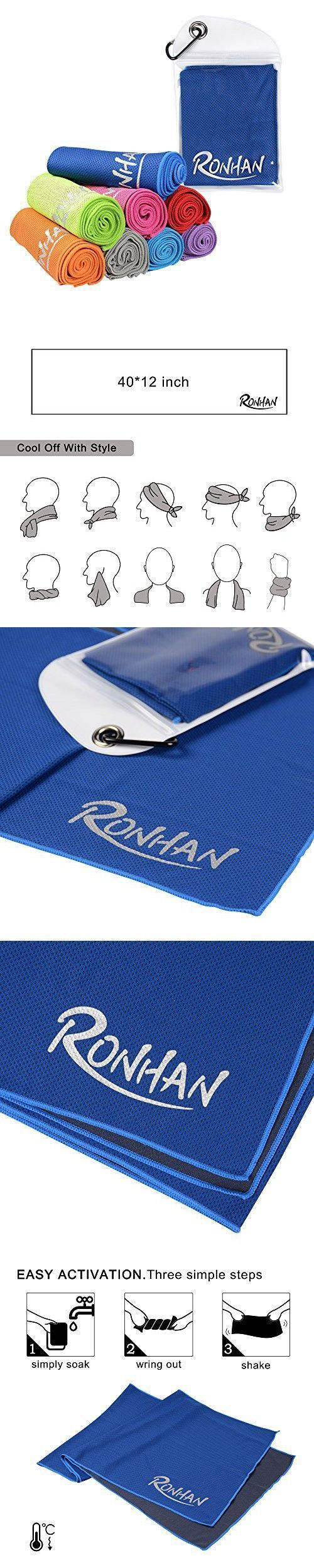 RONHAN Cooling Towel, Ice Towel, Soft Breathable Chilly Towel for Sports, Workout, Fitness, Gym, Run...