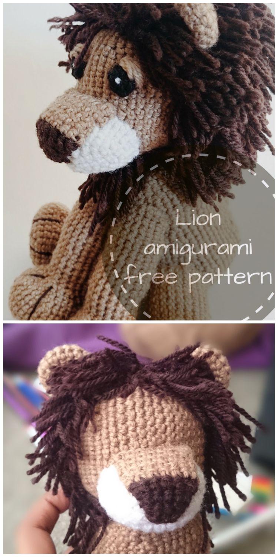 Tiny Lion Amigurumi Crochet Free Pattern | Crochet teddy bear ... | 1500x750