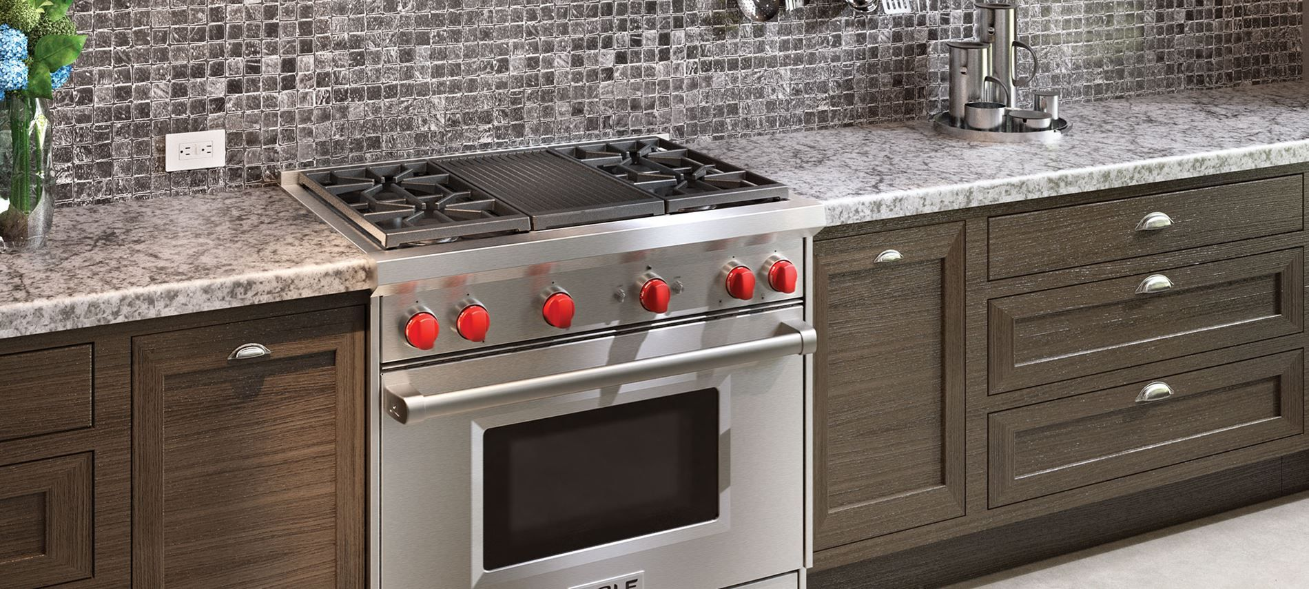 Wolf 36 Gas Range >> 36 Gas Range 4 Burners And Infrared Charbroiler Kitchen