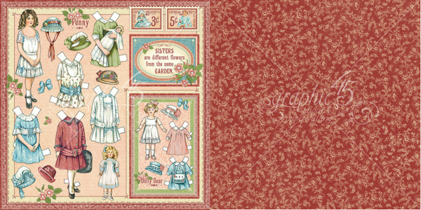Penny/'s Paper Doll Graphic 45 Chipboard