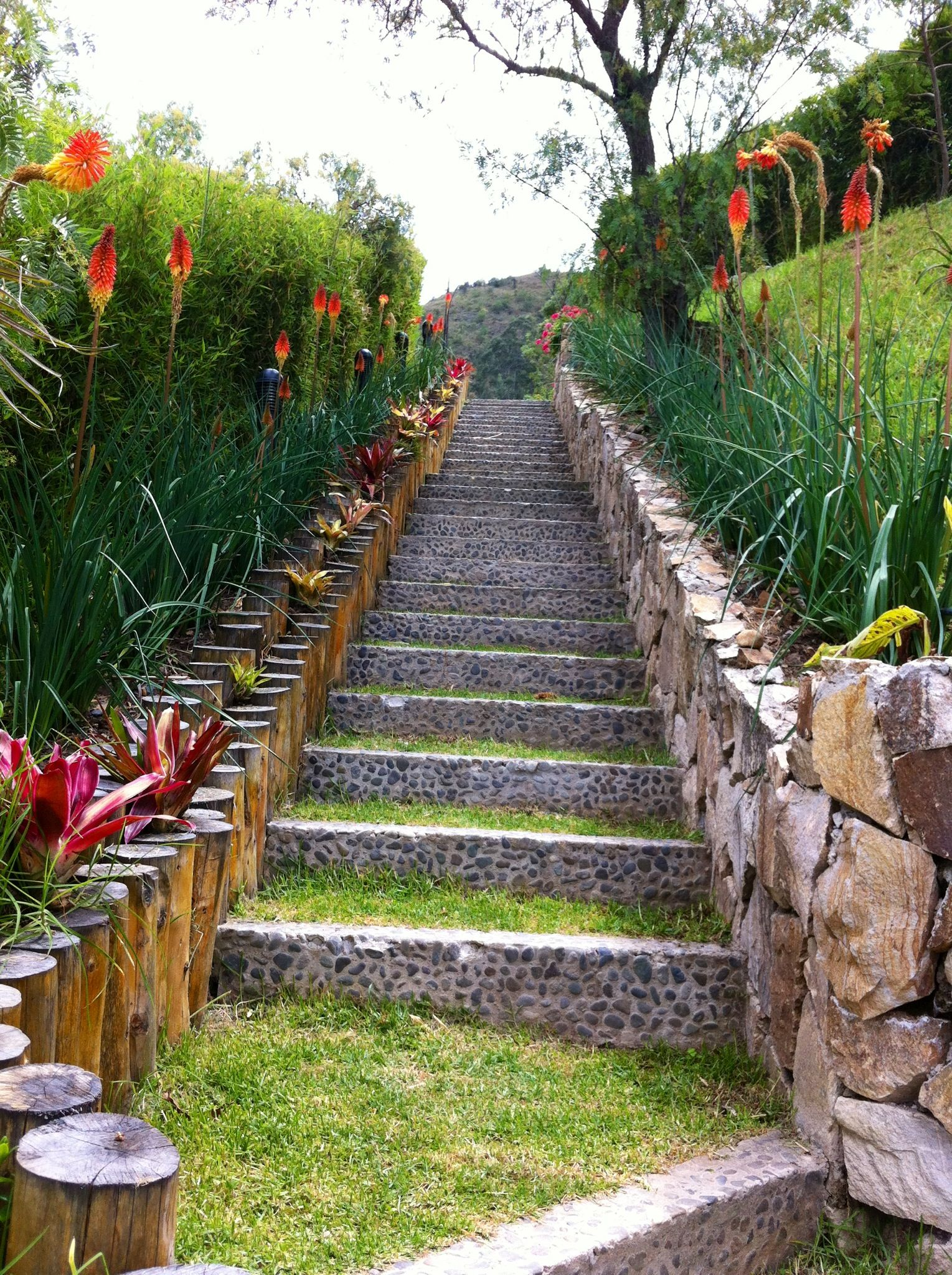 Gradas gradas pinterest pavimento intereses y escalera for Escalera de bloque de jardin