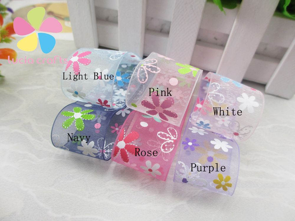 Aliexpress.com : Buy Multi colors option 26mm Printed Organza Ribbon DIY Sewing & Hair Bow Accessories 040044068 from Reliable bow compound suppliers on Lucia Craft store