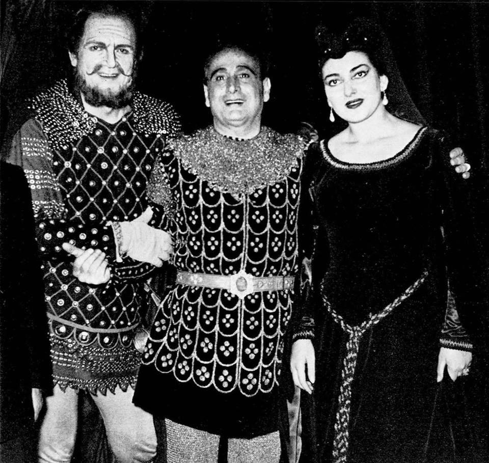 Maria Callas, Giacomo Lauri-Volpi e Giulio Neri in Il Trovatore Opera di Roma 1953