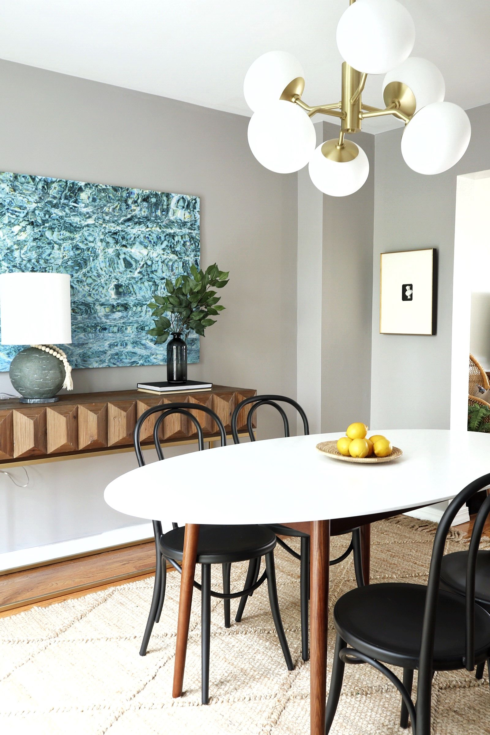 Orc Week 4 Finding My Interior Style Meredith Lynn Designs Modern Oval Dining Table Oval Table Dining Modern Kitchen Tables