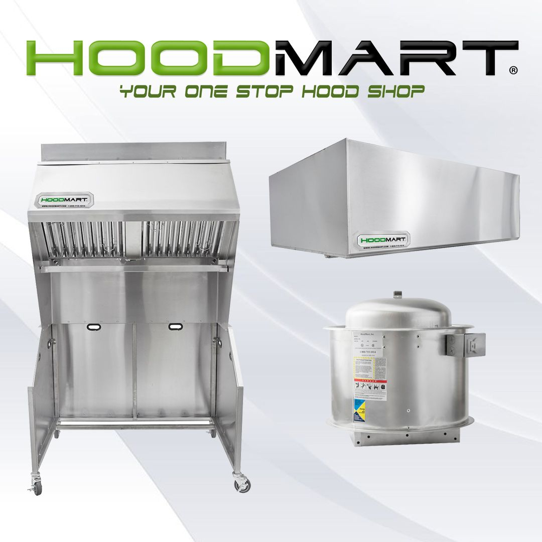 Hoodmart Is Your One Stop Hood Exhaust Hood Shop For High Quality Commercial And Restaurant Kitchen Exhaust Kitchen Exhaust Exhaust Hood Commercial Range Hood