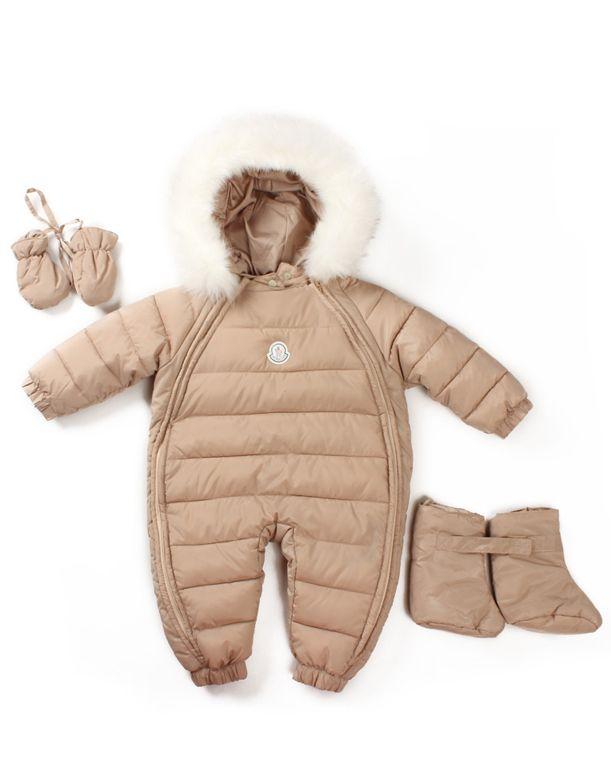 Boys Girls Baby Warm Winter Clothes Down Outerwear Wear Fur