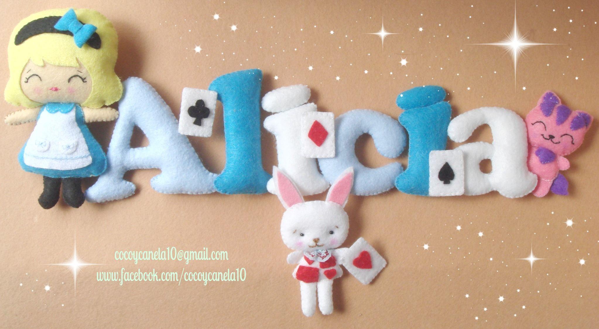 Alice In Wonderland Felt Name Banner Www Facebook Com