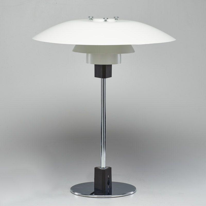 Poul Henningsen Louis Poulsen Lamp Ph 4 3 Table Lamp Denmark Last Third Of 20th C Chrome Plated And Painted Steel Louis Poulsen Lamp Poulsen Lamp Lamp