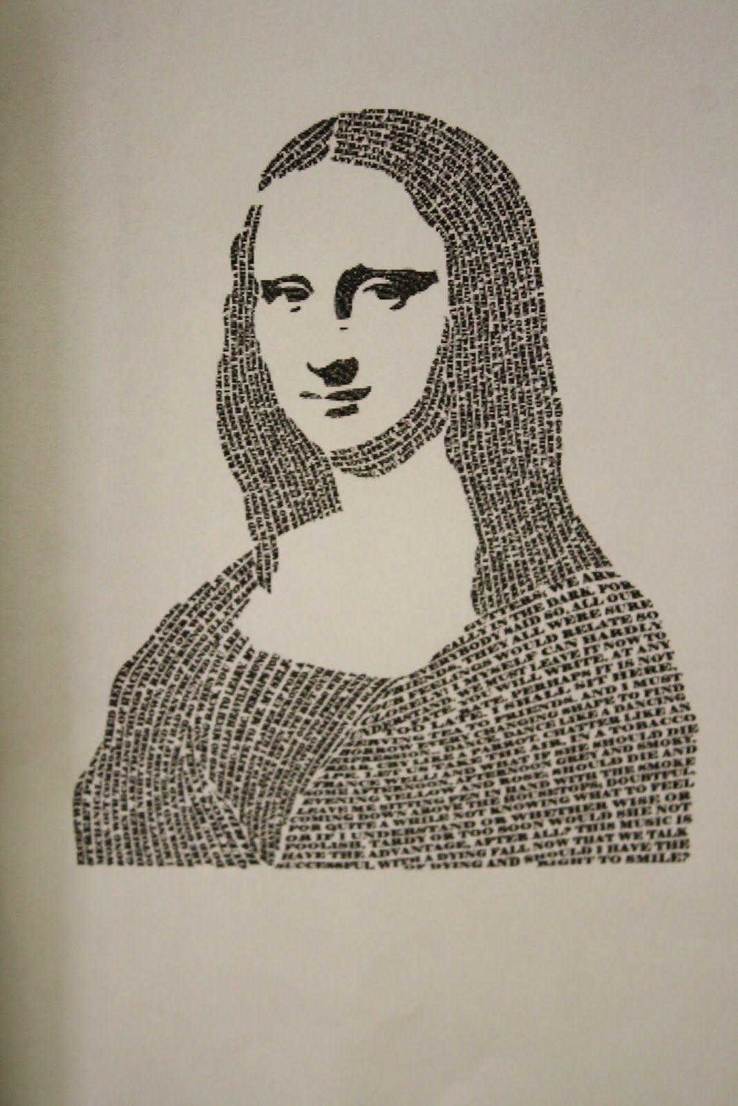 Micrography Portraits | Typography portrait, Text art ...