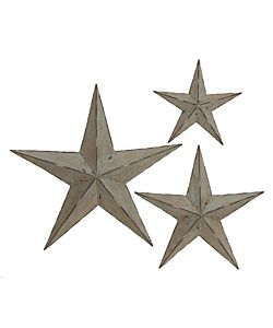 fa0973a735 Elements Gold Star Wall Mirrors and Plaques (Set of 7) - Overstock ...    Entry way   Metal wall decor, Wall decor, Decor