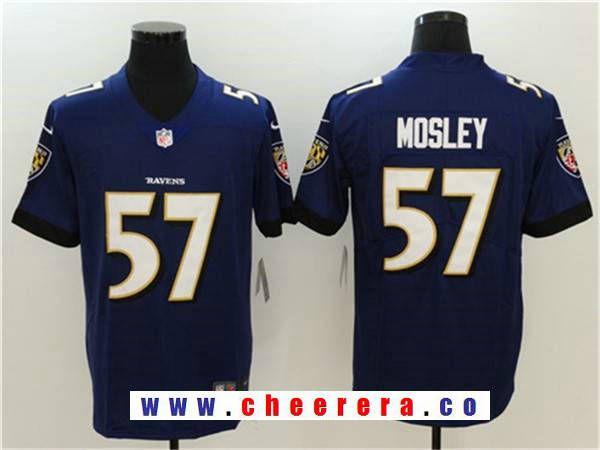 mens baltimore ravens 57 c.j. mosley purple 2017 vapor untouchable stitched nfl nike limited jersey