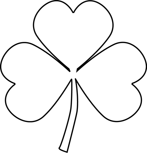 Black And White Shamrock Clip Art Black And White Shamrock Image Clip Art St Patrick Day Activities Clip Art Pictures