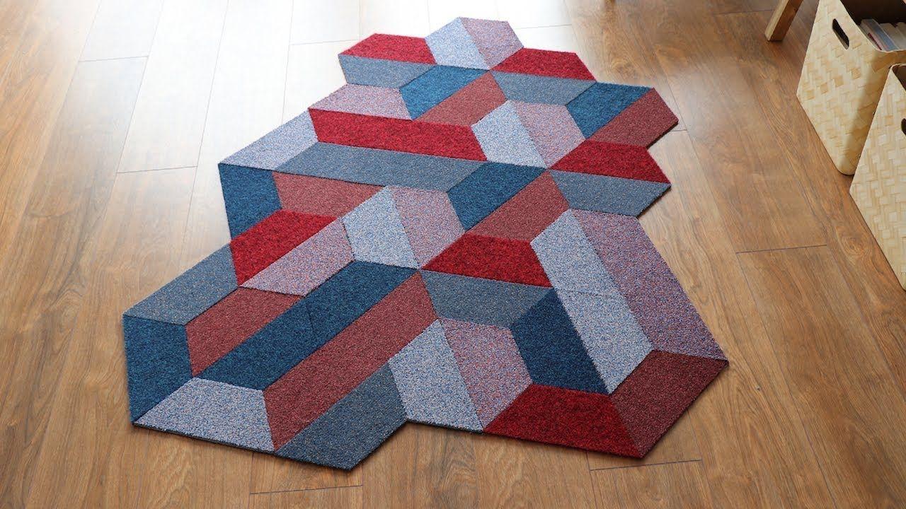 Colourful Geometric Diy Rug Carpet Recycling Art Rugs On Carpet Diy Rug Geometric Carpet