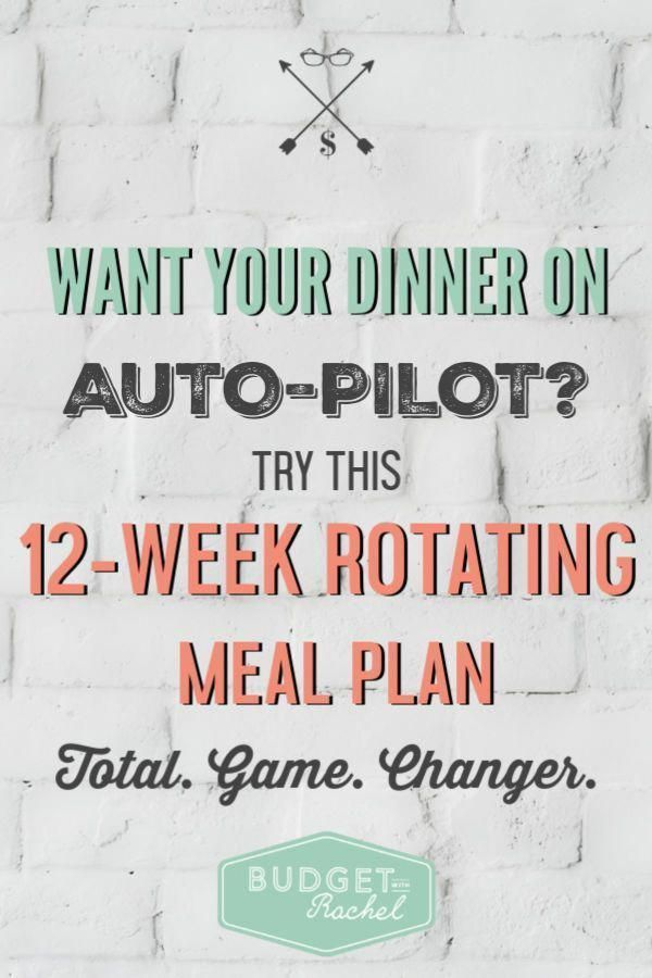 12week rotating meal plan  meal planning for beginners  lazy girls guide to