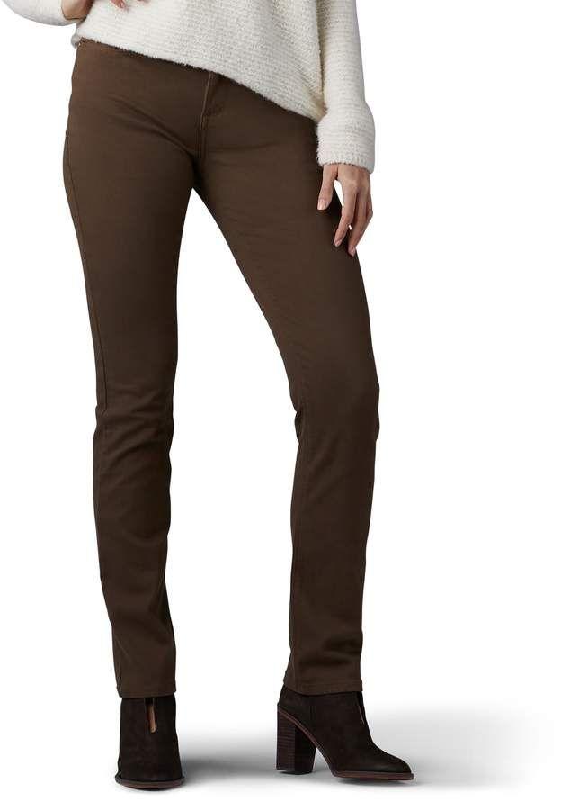 a0e35454a68c0 Lee Women s Secretly Shapes Regular Fit Straight-Leg Jeans ...
