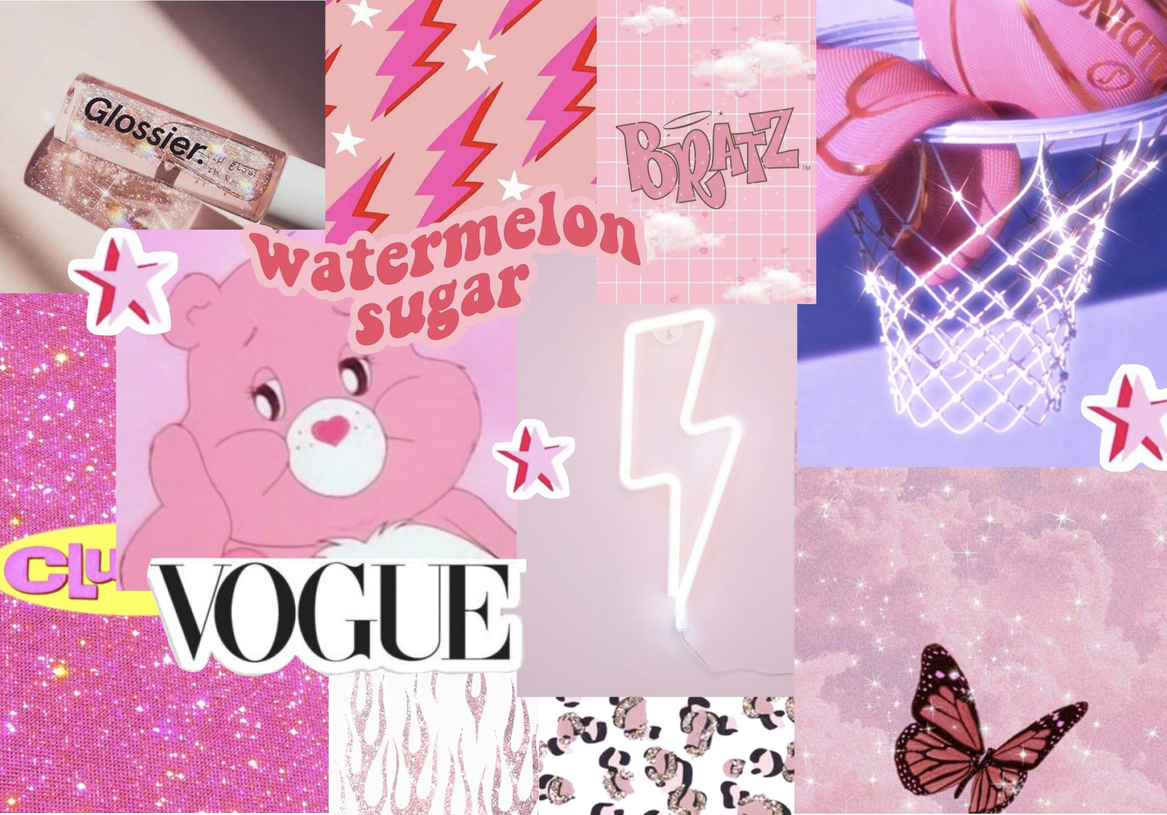 Pink Aesthetic Collage Computer Wallpaper Desktop Wallpapers Cute Laptop Wallpaper Cute Desktop Wallpaper
