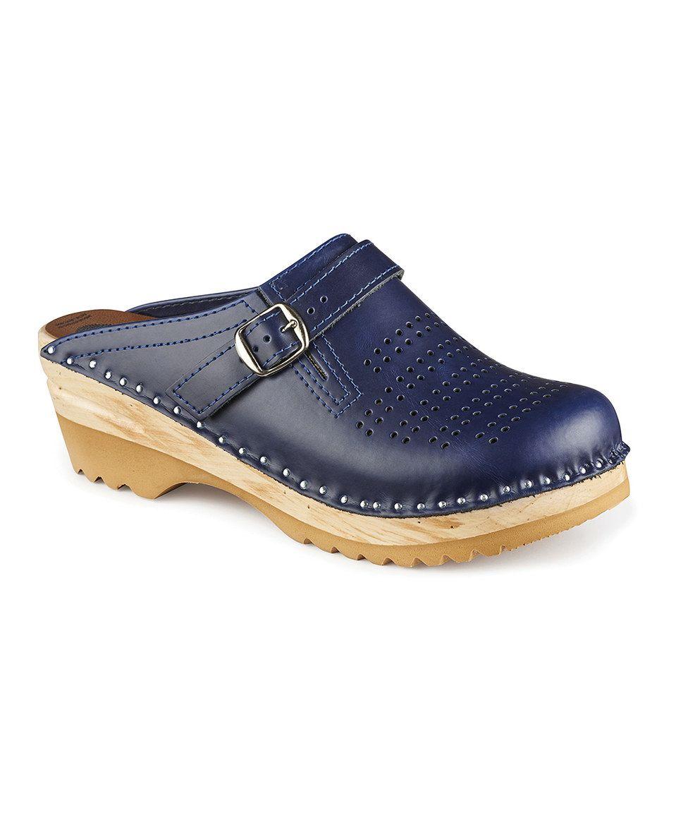 Look what I found on #zulily! Troentorp Blue Julius Leather Clog by Troentorp #zulilyfinds