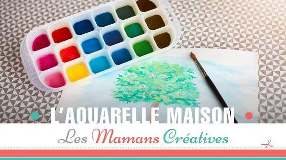 Aujourdu0027hui Je Vous Apprend Lors De Ce Tuto Aquarelle, Comment Faire Sa  Propre Peinture à Lu0027eau Maison Comestible / Non Toxiquu2026 | Pinterest