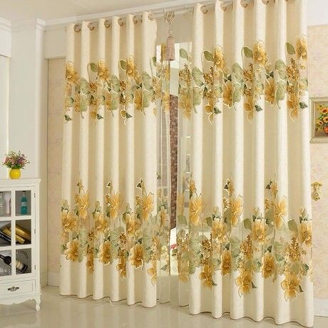 Home Window DecorationBurnt Cotton Jacquard Curtain Bedroom Curtains  Wedding Blind Curtains For Living Room 3*