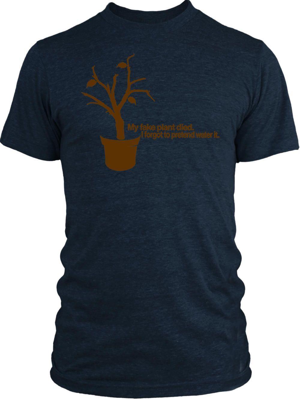 Big Texas Fake Plastic Tree (Brown) Vintage Tri-Blend T-Shirt