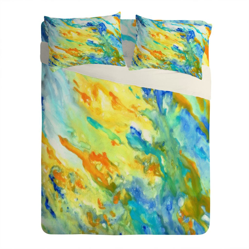 Rosie Brown Sunset Inspired Sheet Set Lightweight | DENY Designs Home Accessories #bed #sheets #bedding #bedroom #art #denydesigns #homedecor #abstract