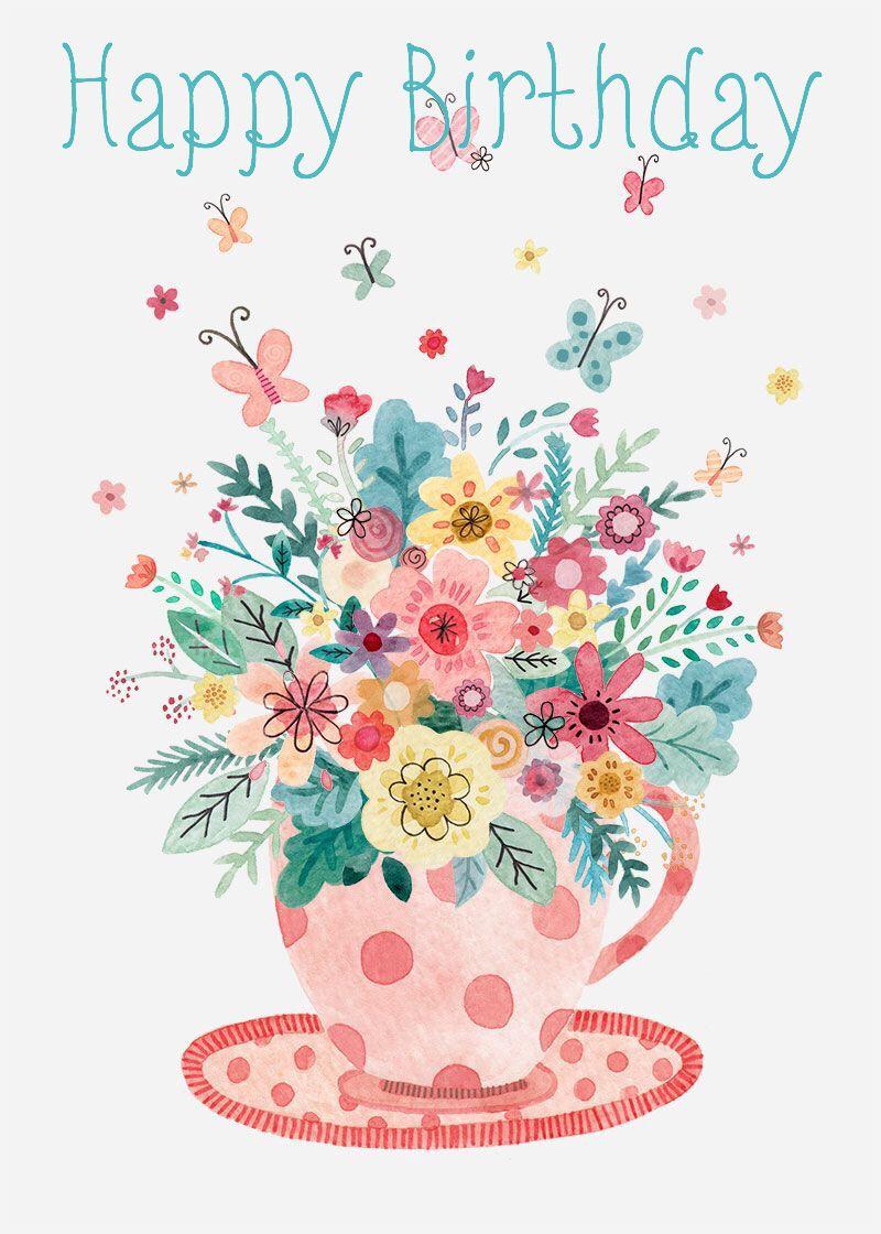 felicityfrench.co.uk Happy Birthday French illustration