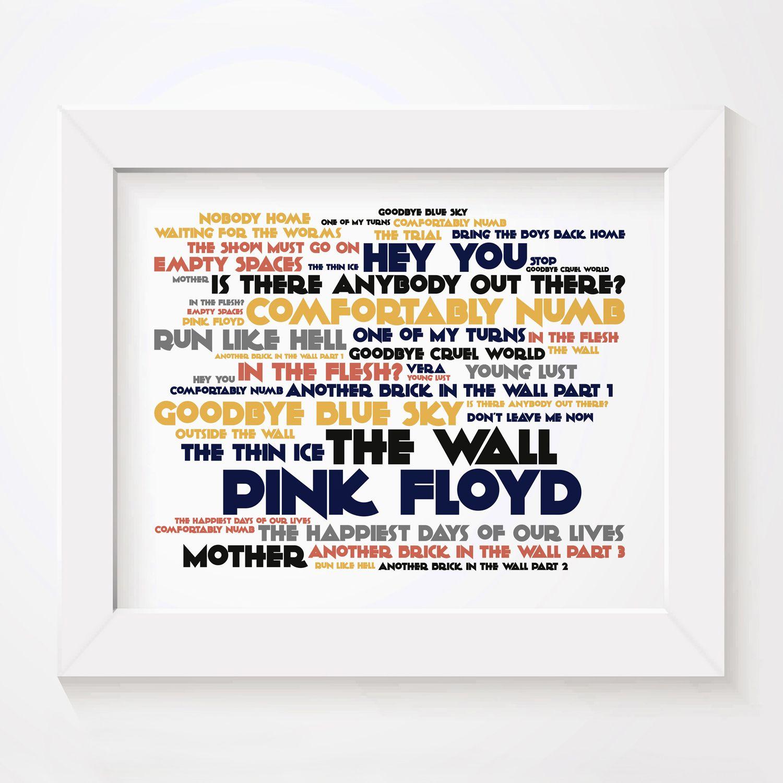 Pink Floyd The Wall Cadence Limited Edition Typography Lyrics