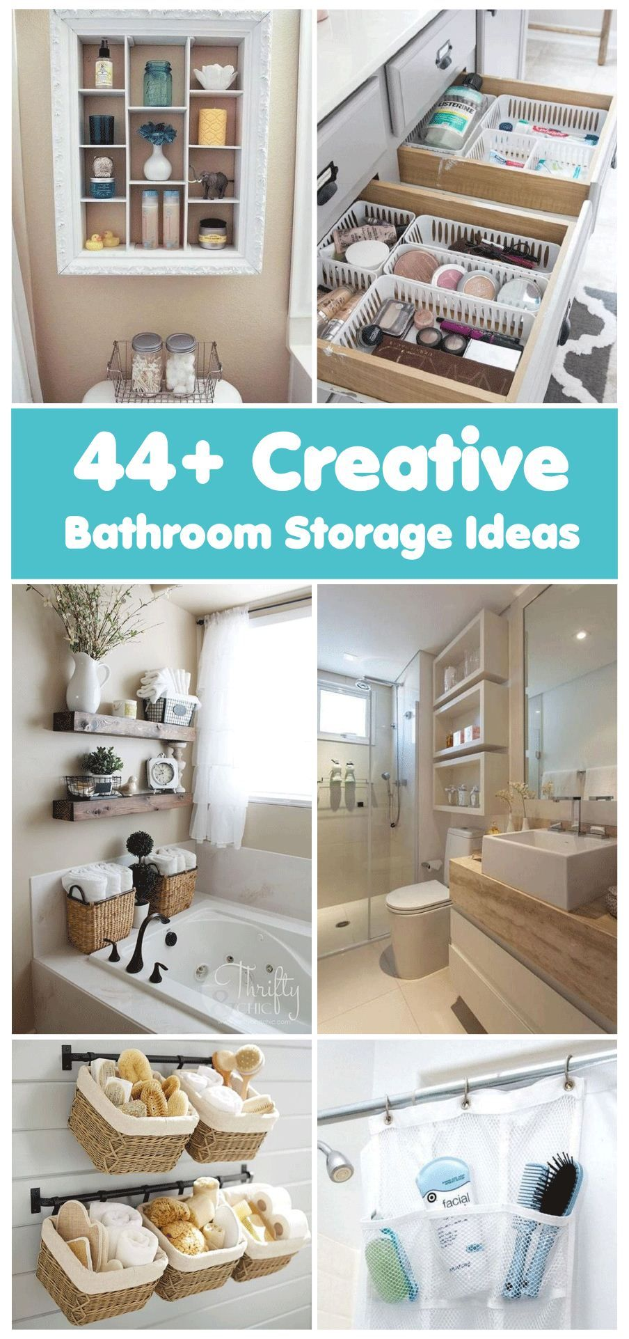 44 Creative Small Bathroom Storage Ideas That Will Save You Space