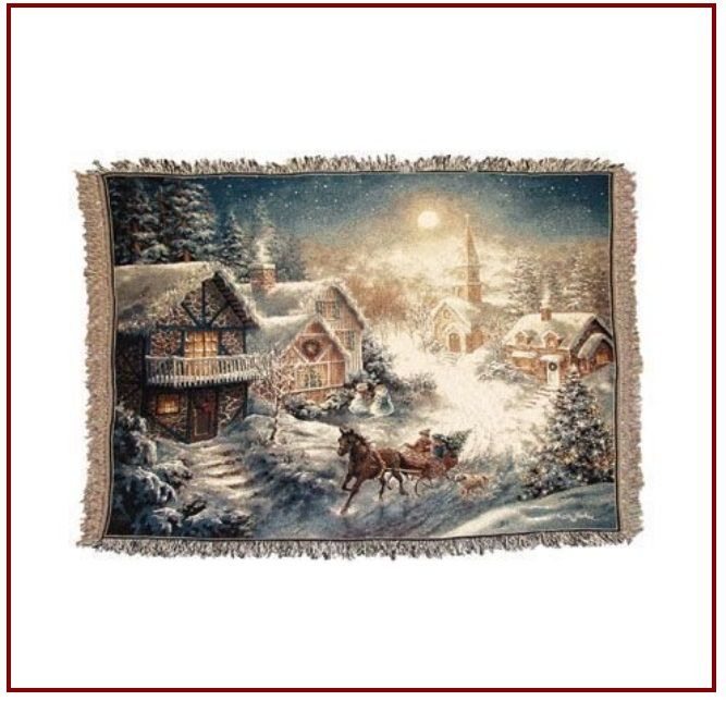 Christmas Throws & Blankets ~ Simple Christmas throws and blanket can turn your room into a gallery of beautiful Christmas art.