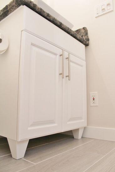 Bathroom Vanity Feet upgrade your vanityadding bun feet instead of the builder
