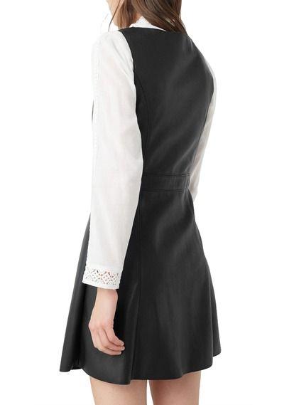 2c629de566071e Korte rok met knopen van nepleer Zwart by MANGO