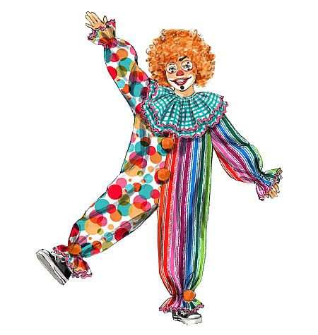 A Great Clown Costume Without Buying a Pattern! | Pinterest | Clown ...