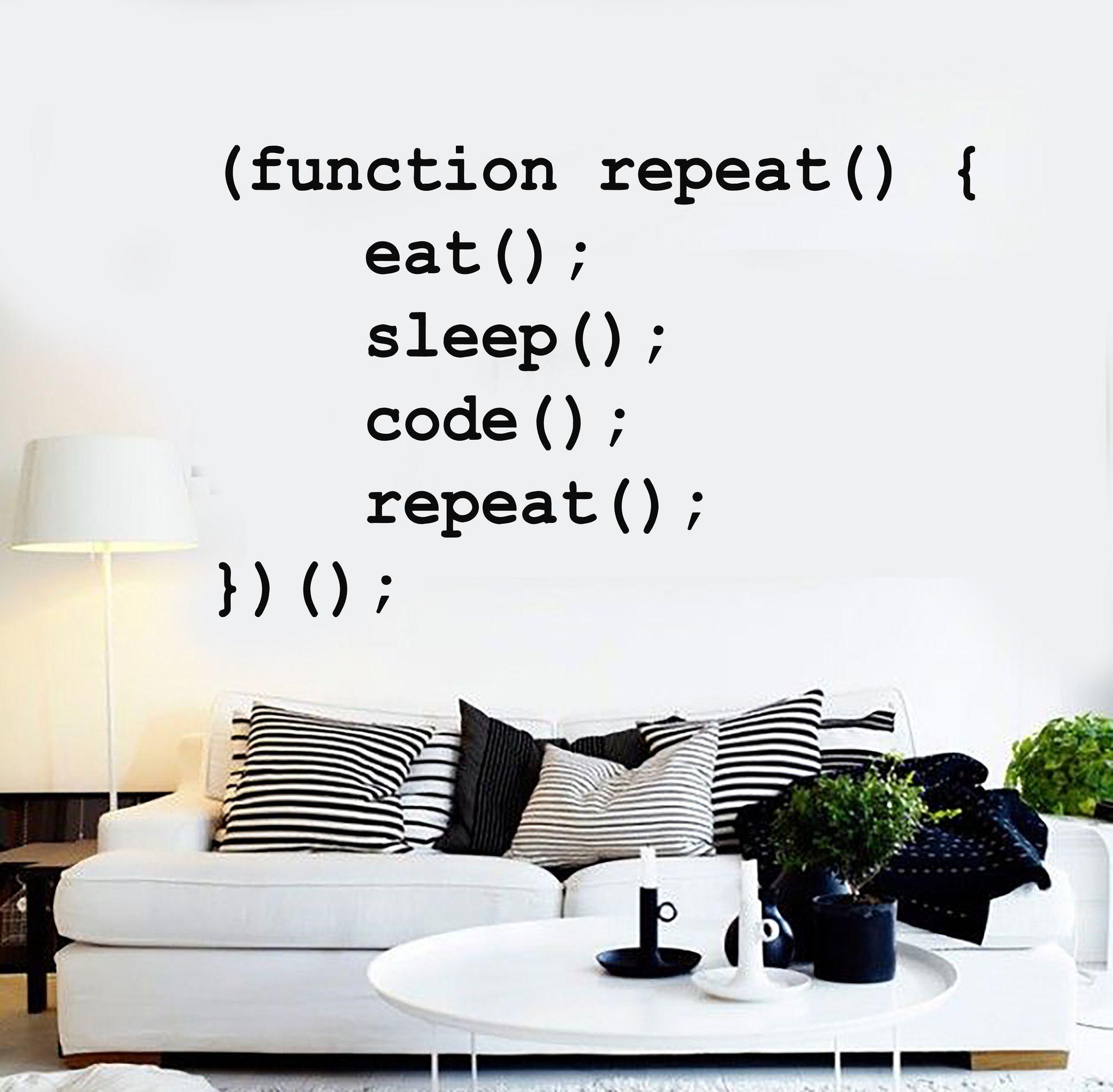 vinyl wall decal programmer coder lifestyle geek code stickers