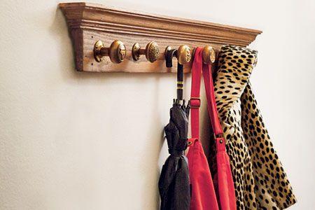 How to Make a Doorknob Coatrack | Coat racks, Door knobs and Vintage