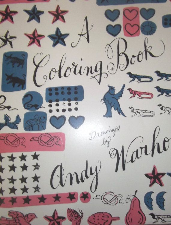 Andy Warhol First Edition Giant Coloring Book by DriftingDoodles ...