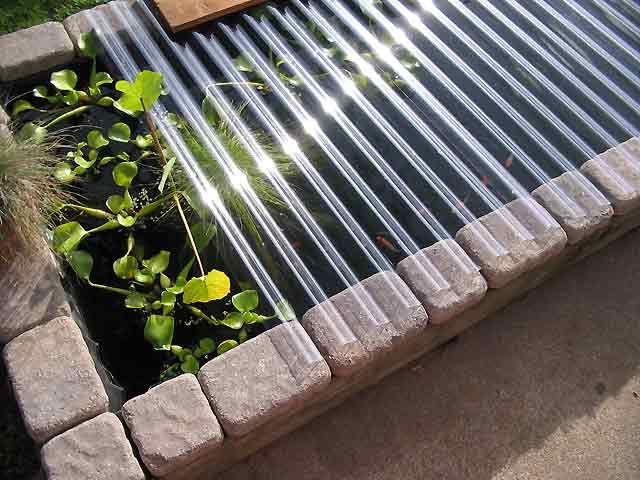 Diy pond winter leaf cover build yard pinterest diy for Koi pond cover